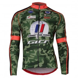 2018 Armee De Terre Camouflage Long Sleeve Cycling Jersey