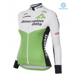 2018 Dimension Data Women Thermal Long Sleeve Cycling Jersey
