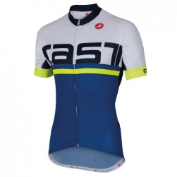 2016 Cаstelli Meta FZ White-Blue Cycling Jersey