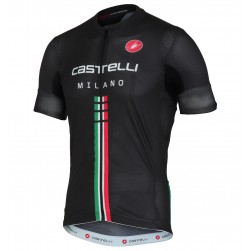 2016 Cаstelli Italia Milano Black Cycling Jersey