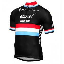 2016 Etixx-Quick Step Luxembourg Champion Black Cycling Jersey