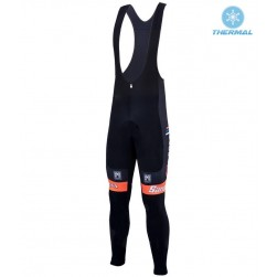 2016 Team DE-ROSA Black-Orange Thermal Cycling Bib Pants