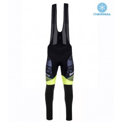 2016 Santini Interactive 3.0 Black-Green Thermal Cycling Bib Pants