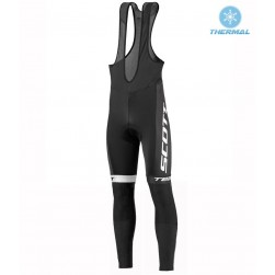 2016 Scott Team Black-Blue-White Thermal Cycling Bib Pants