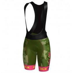 2017 Ale Graphics PRR Camo Women's Green-Pink Cycling Bib Shorts