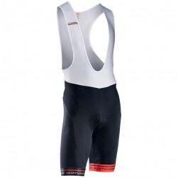 2017 Northwave Logo 3 White-Red Cycling Bib Shorts