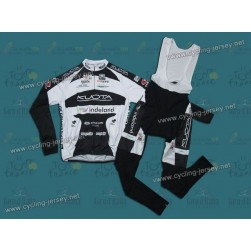 2010 Kuota Indeland Thermal Team Cycling Long Sleeve Jersey and Bib Pants Set
