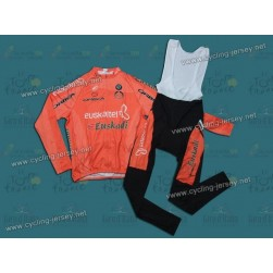 2010 Euskaltel Euskadi Thermal Team Cycling Long Sleeve Jersey and Bib Pants Set