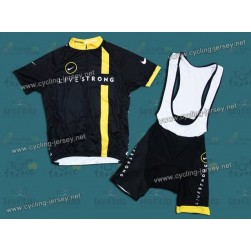 2011 LiveStrong Team Cycling Jersey and Bib Shorts Set