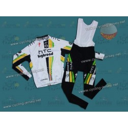 2011 Columbia HTC Highroad Team Thermal Cycling Long Sleeve Jersey And Bib Pants Set