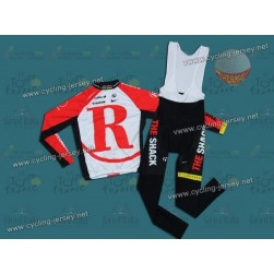 2011 RadioShack Trek Red Team Thermal Cycling Long Sleeve Jersey And Bib Pants Set