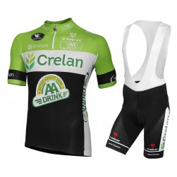 2015 Team Crelan AA Drink Cycling Jersey And Bib Shorts Set