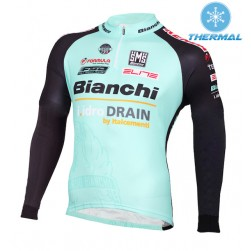 2015 Bianchi Active-TX Light Green Thermal Cycling Long Sleeve Jersey