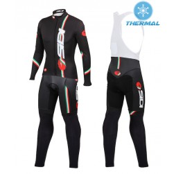 2015 Cаstelli Sidi Dino Black Thermal Long Sleeve Cycling Jersey And Bib Pants