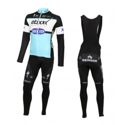 2015 Etixx-Quick Step Long Sleeve Cycling Jersey And Bib Pants