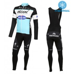 2015 Etixx-Quick Step Thermal Long Sleeve Cycling Jersey And Bib Pants