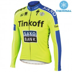 2015 Tinkoff Saxo Bank Thermal Cycling Long Sleeve Jersey