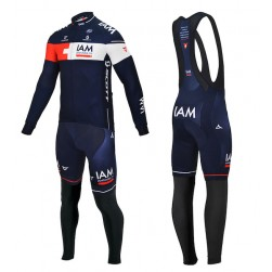 2015 Team IAM Long Sleeve Cycling Jersey And Bib Pants
