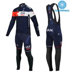 2015 Team IAM Thermal Long Sleeve Cycling Jersey And Bib Pants