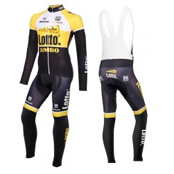 2015 Lotto NL-Jumbo Yellow Long Sleeve Cycling Jersey And Bib Pants