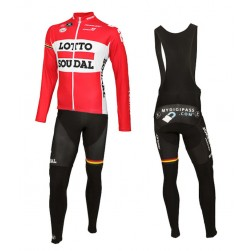2015 Lotto Soudal Long Sleeve Cycling Jersey And Bib Pants