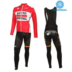 2015 Lotto Soudal Thermal Long Sleeve Cycling Jersey And Bib Pants