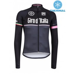 2015 Giro D'Italia Black Thermal Cycling Long Sleeve Jersey