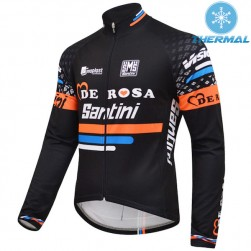 2015 De-Rosa Santini Black Thermal Cycling Long Sleeve Jersey