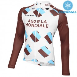 2015 Team Ag2r Thermal Cycling Long Sleeve Jersey