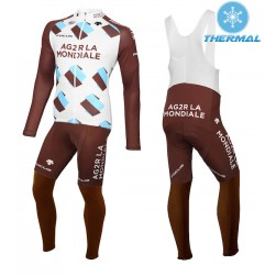 2015 Team Ag2r Thermal Long Sleeve Cycling Jersey And Bib Pants