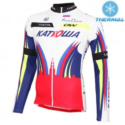 2015 Team Katusha Thermal Cycling Long Sleeve Jersey