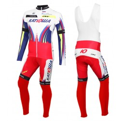 2015 Team Katusha Long Sleeve Cycling Jersey And Bib Pants