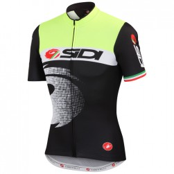 2015 Cаstelli Sidi Pippo Fluo Black Cycling Jersey
