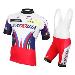 2015 Team Katusha Cycling Jersey And Bib Shorts Set