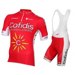 2015 Team Cofidis Cycling Jersey And Bib Shorts Set