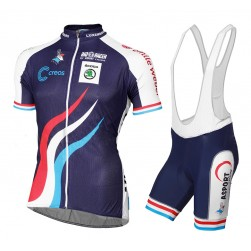2015 Luxembourg National Team Cycling Jersey And Bib Shorts Set