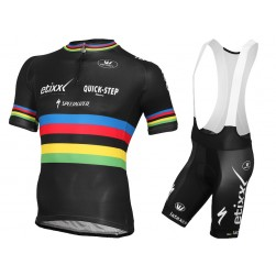 2015 Etixx Quick-Step World Champion Cycling Jersey And Bib Shorts Set