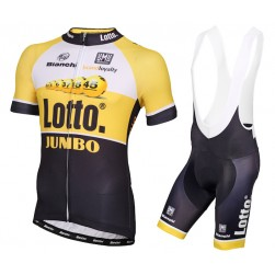 2015 Lotto NL-Jumbo Yellow Cycling Jersey And Bib Shorts Set