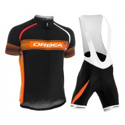 2015 Orbea Black-Yellow Stripe Cycling Jersey And Bib Shorts Set