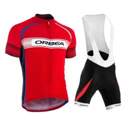 2015 Orbea Red Stripe Cycling Jersey And Bib Shorts Set