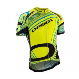 2015 Orbea fluo Yellow With Blue Dot Cycling Jersey