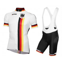 2016 Germany National Team Cycling Jersey And Bib Shorts Set