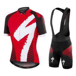 2016 SPED Team LS Black-Red Cycling Jersey And Bib Shorts Set