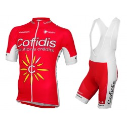 2016 Cofidis Team Cycling Jersey And Bib Shorts Set