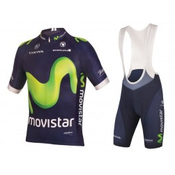 2016 Movistar Team Cycling Jersey And Bib Shorts Set