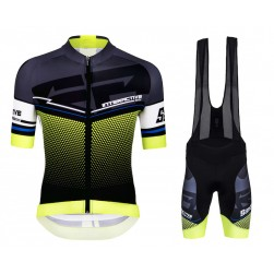2016 Santini Interactive 3.0 Black-Green Cycling Jersey And Bib Shorts Set