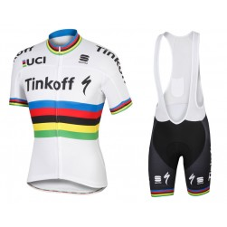 2016 Tinkoff Race Team World Champion Cycling Jersey And Bib Shorts Set f2b8a9b1d