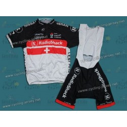 2012 RadioShack Nissan Trek SWI Champion Cycling Jersey and Bib Shorts Set