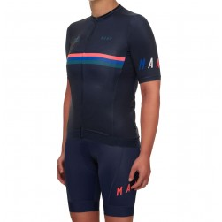2019 MAAP Nationals Navy Women's Cycling Jersey And Bib Shorts Set