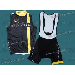 2011 LiveStrong Team Cycling Vest and Bib Shorts Set